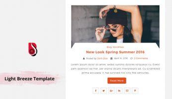 Light Breeze – Blog template