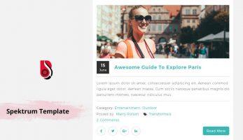 Spektrum – Blog template