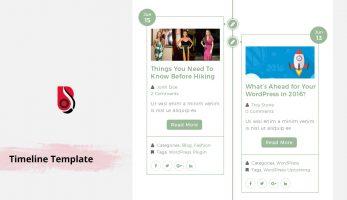 Timeline – Blog template