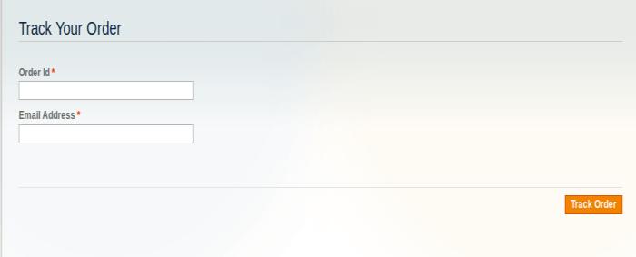 Client Side – Track Order FormClient Side – Track Order Form