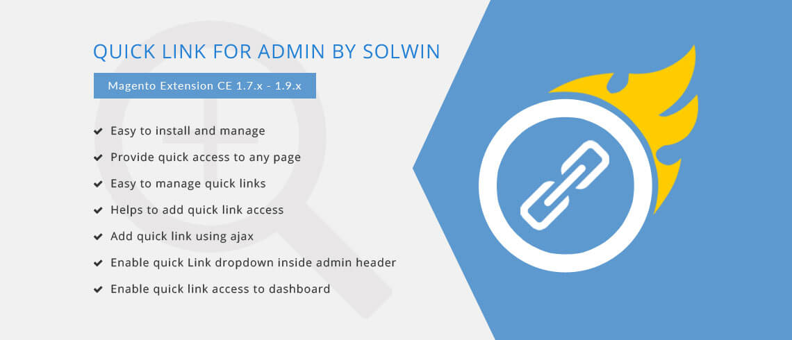 Quick Link For Admin - Magento Extension