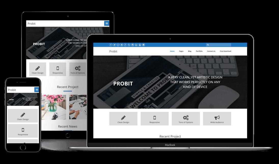 Probit – Free Responsive WordPress Theme | WP Themes