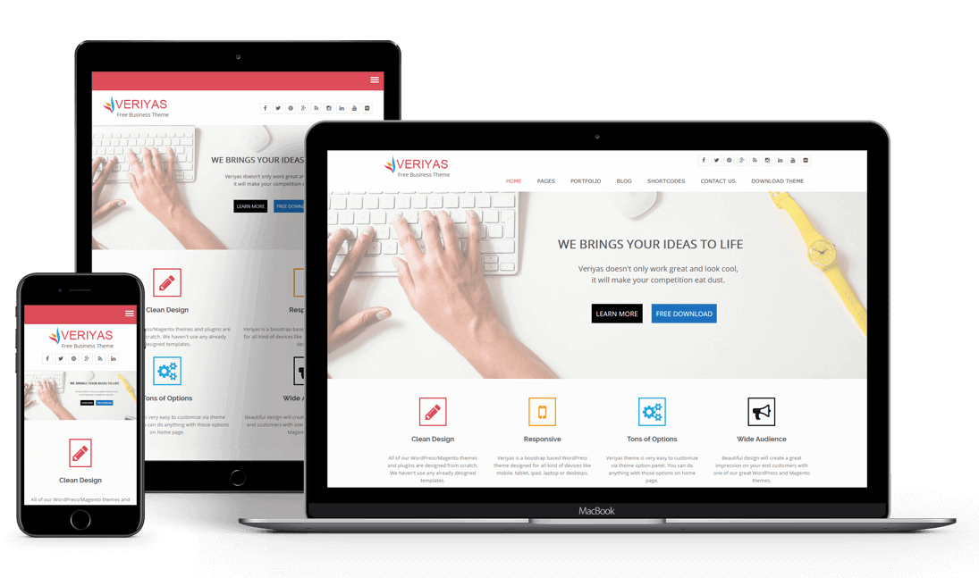 Veriyas - Free Business Responsive WordPress Theme