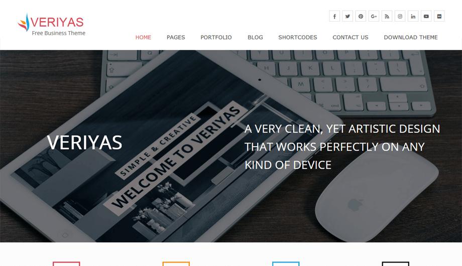 Veriyas - Free Business Responsive WordPress Theme