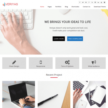 Veriyas WordPress Theme