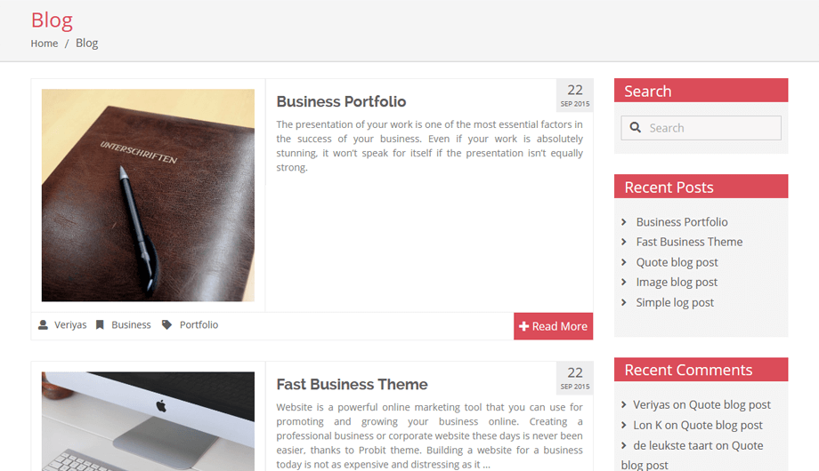 Veriyas – Blog Simple Layout