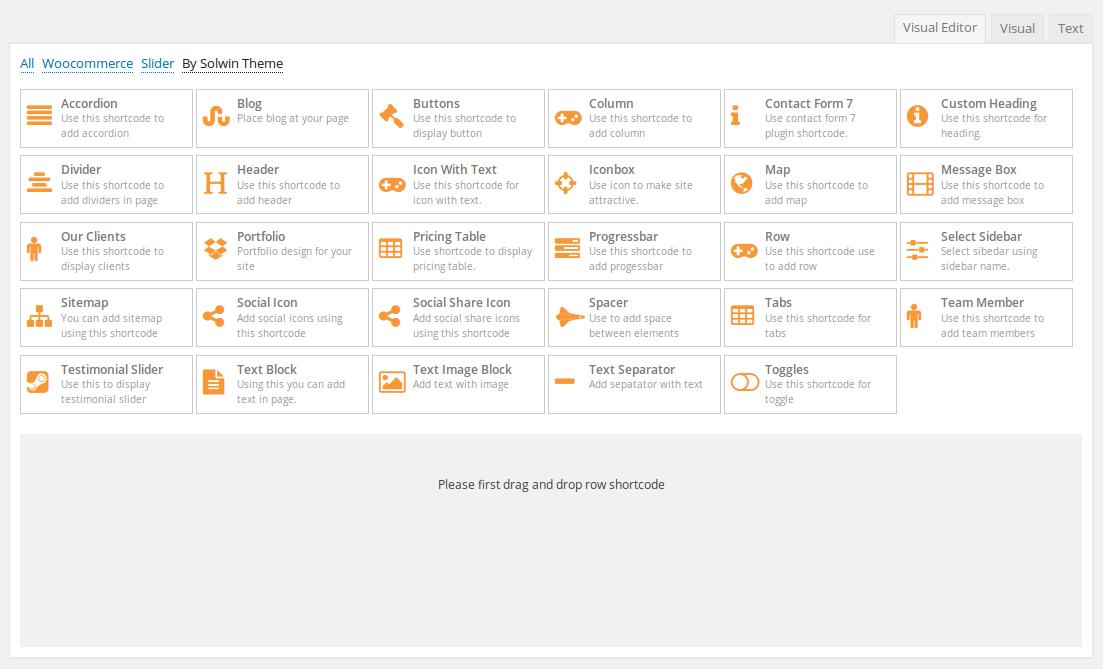 Kreta WordPress Theme - Visual Editor