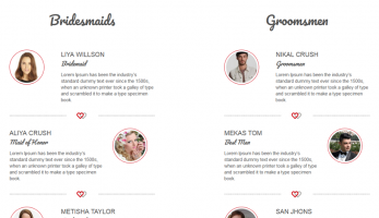 TwoGether – Bridemaids and Groomsmen Listing