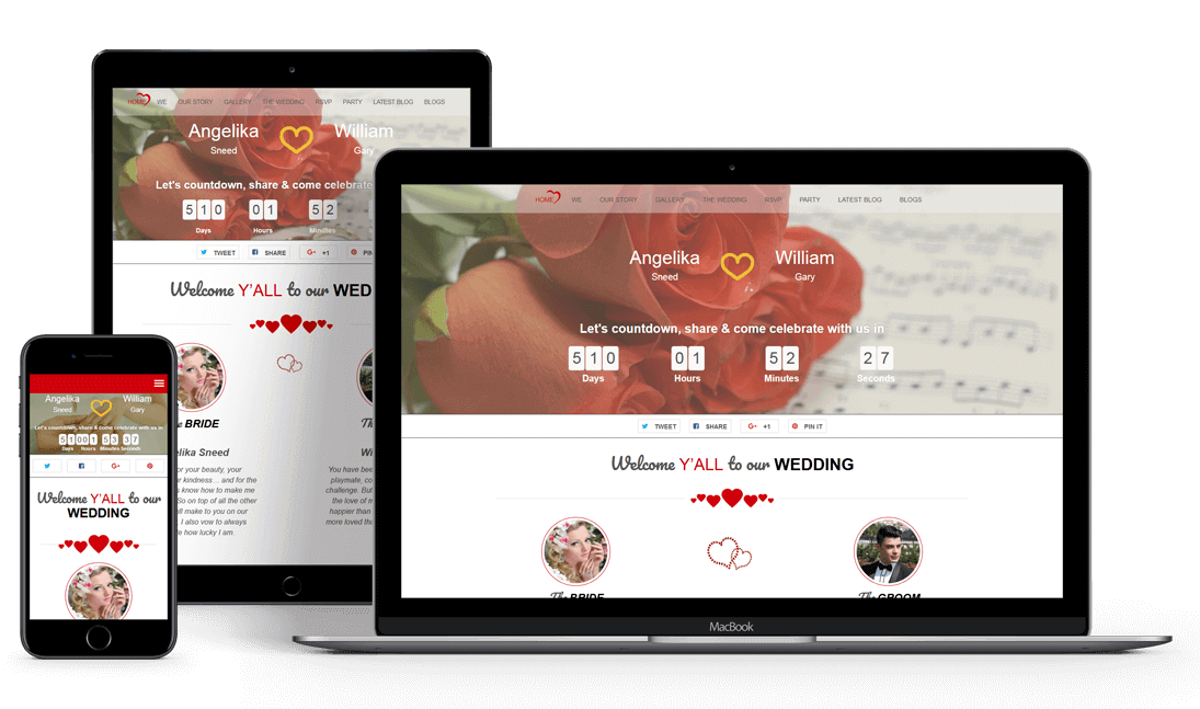 Twogether Wordpress Wedding Theme Free Wordpress Theme