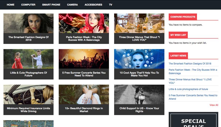 Advanced News Magento 2 Extension - News List