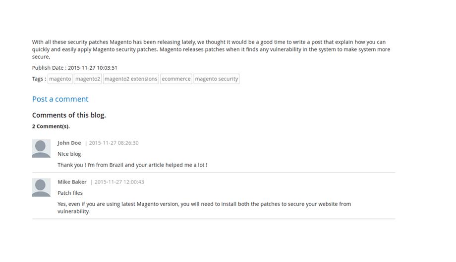 Advanced Blog – Comments