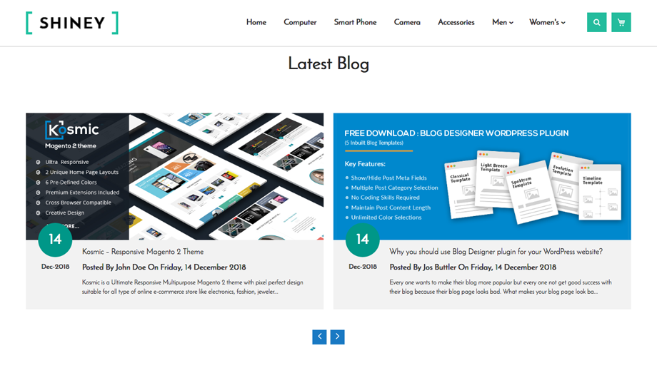 Advanced Blog – Home Page