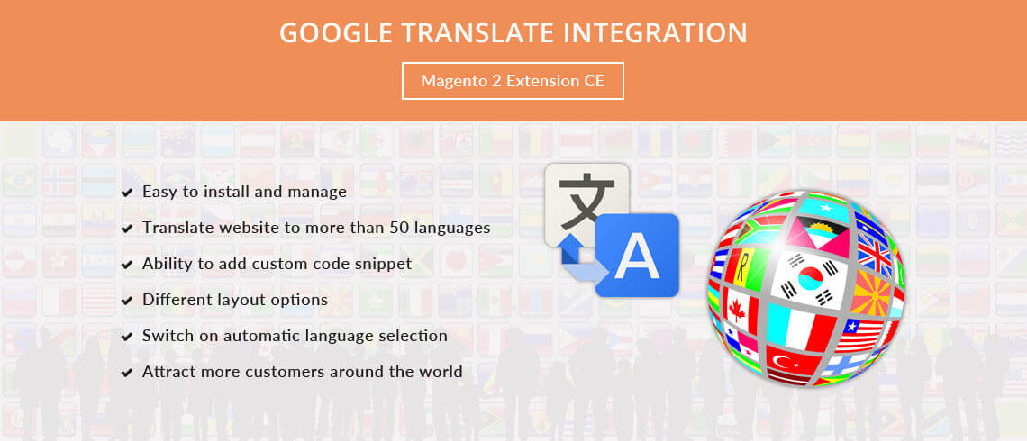 Google Translate Integration - Extension for Magento® 2