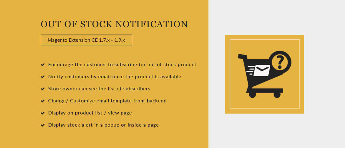 Out of Stock - Magento Extension