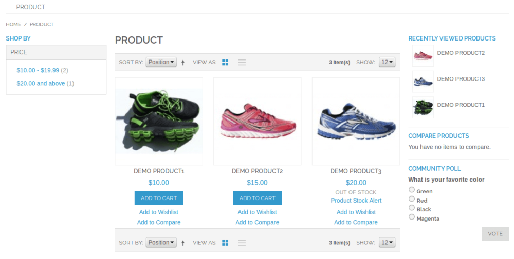 Out of Stock – Magento Extension – Product List Page