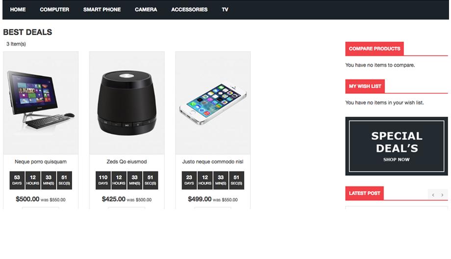 Best Deals Magento 2 Extension – Hot Deals Page