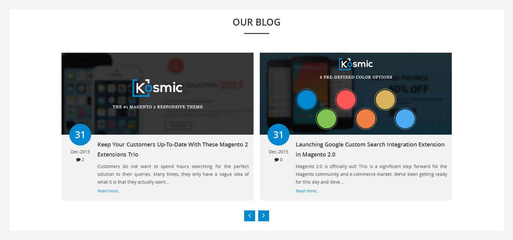 kosmic magento 2 theme blog view