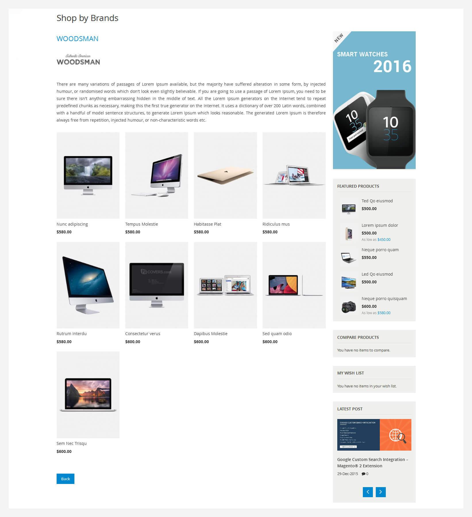 kosmic magento 2 theme brand details page