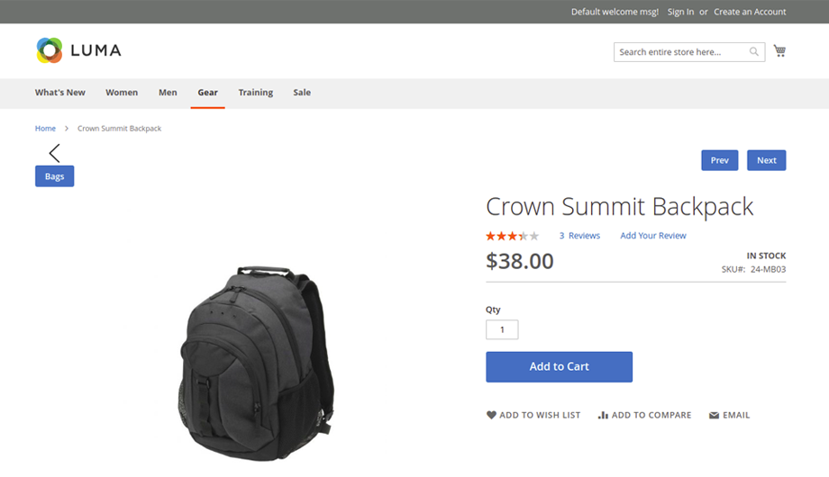 Previous Next Product Navigation Magento 2 Extension – Back Button Image