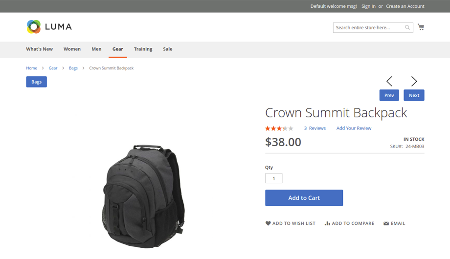 Previous Next Product Navigation Magento 2 Extension – Previous Next Button Image