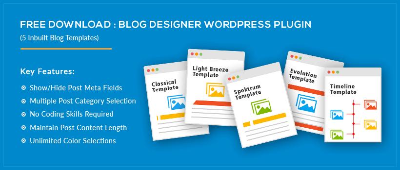 Blog Designer WordPress Plugin