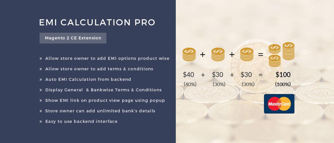 EMI Calculation PRO - Magento 2 Extension