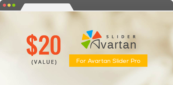 JewelUX Theme includes $20 for Avartan Slider Pro