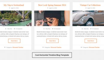 Blog Designer – Cool  Horizontal Timeline Template