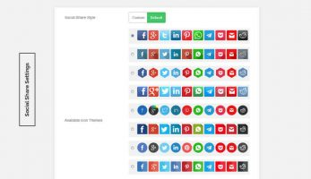 Blog Designer – Social Share Settings