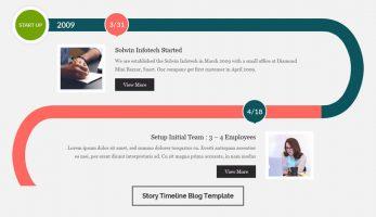 Blog Designer – Story Timeline Template