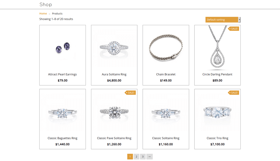 JewelUX – Shop Page