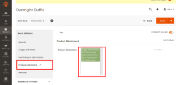 Product Attachments – Upload Files