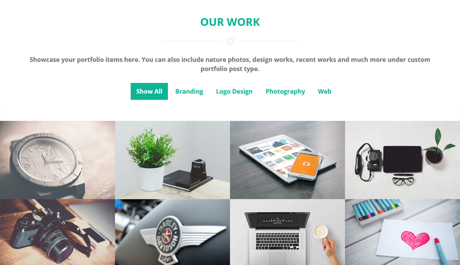 Portfolio – Biznetic One Page Business WordPress Theme