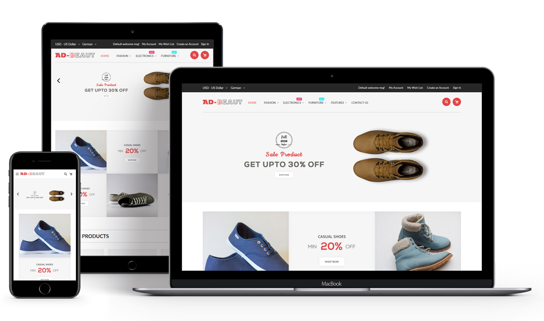 Ad-Beaut Multipurpose Responsive Magento 2 Theme