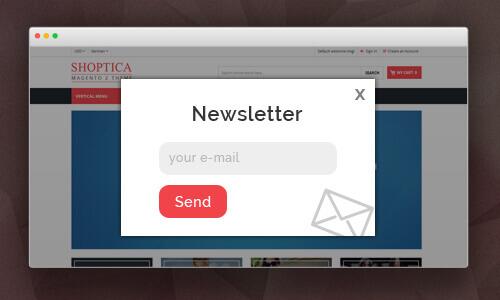 Shoptica Magento 2 Theme Newsletter Popup