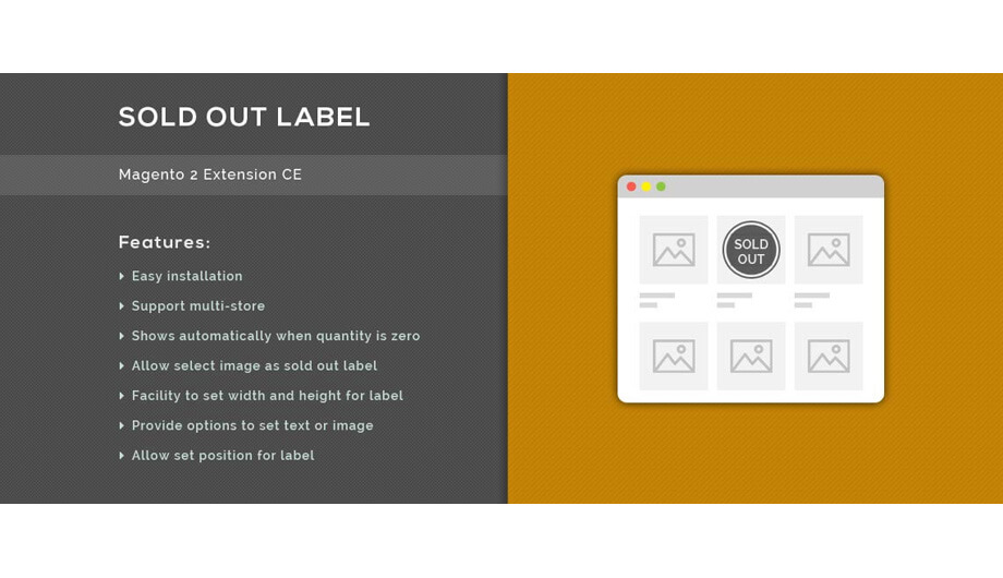 Sold Out Label - Magento 2 Extension