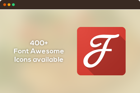 Compatible with FontAwesome