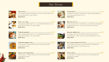 FoodFork – Our Menu