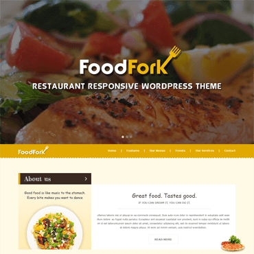FoodFork - Restaurant Wordpress Theme