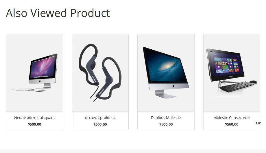 Who Viewed is Also Viewed – Product List