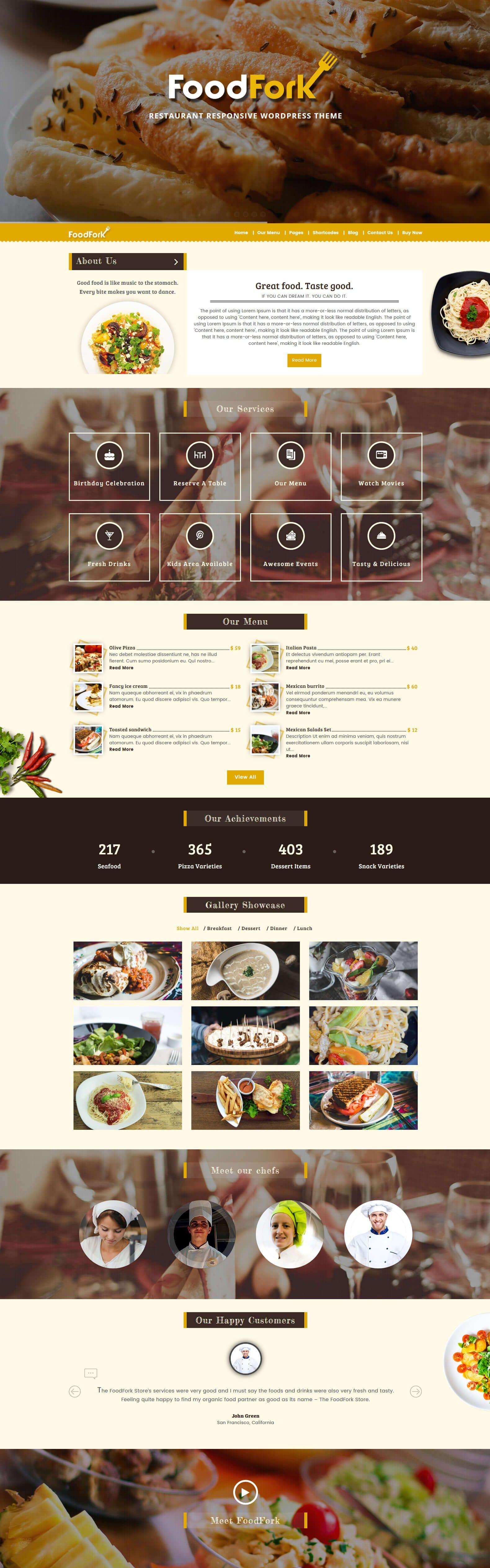 foodfork wordpress themes