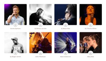 MusicTune WordPress Theme – Artists