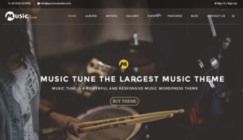 MusicTune WordPress Theme – Home Banner