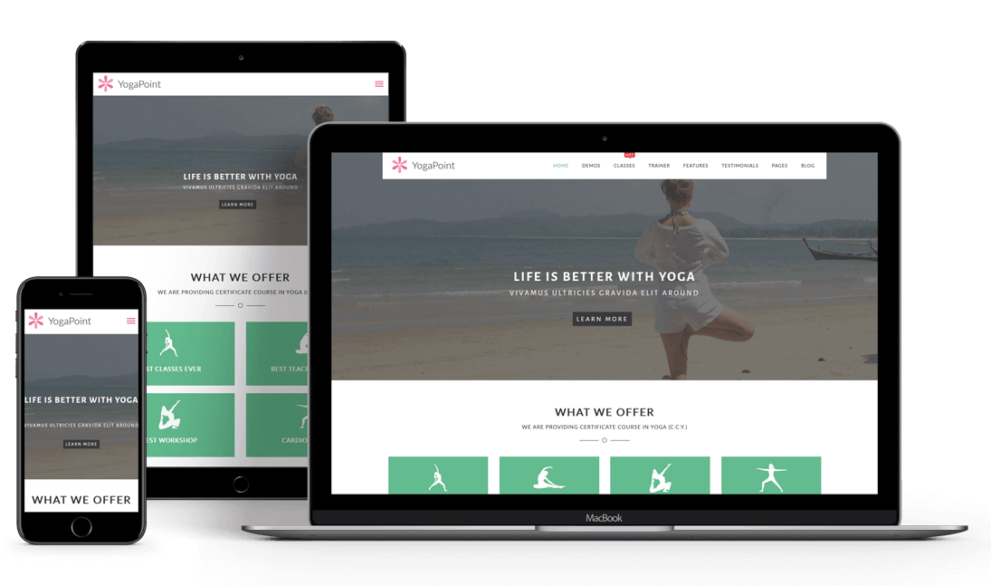 YogaPoint Responsive WordPress Theme