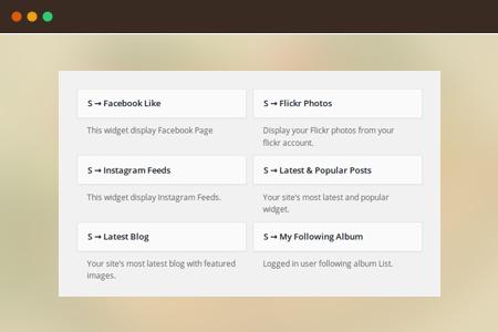 Fully widgetized homepage