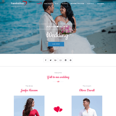 TwoGether WordPress Theme - Premium Wedding WordPress Theme