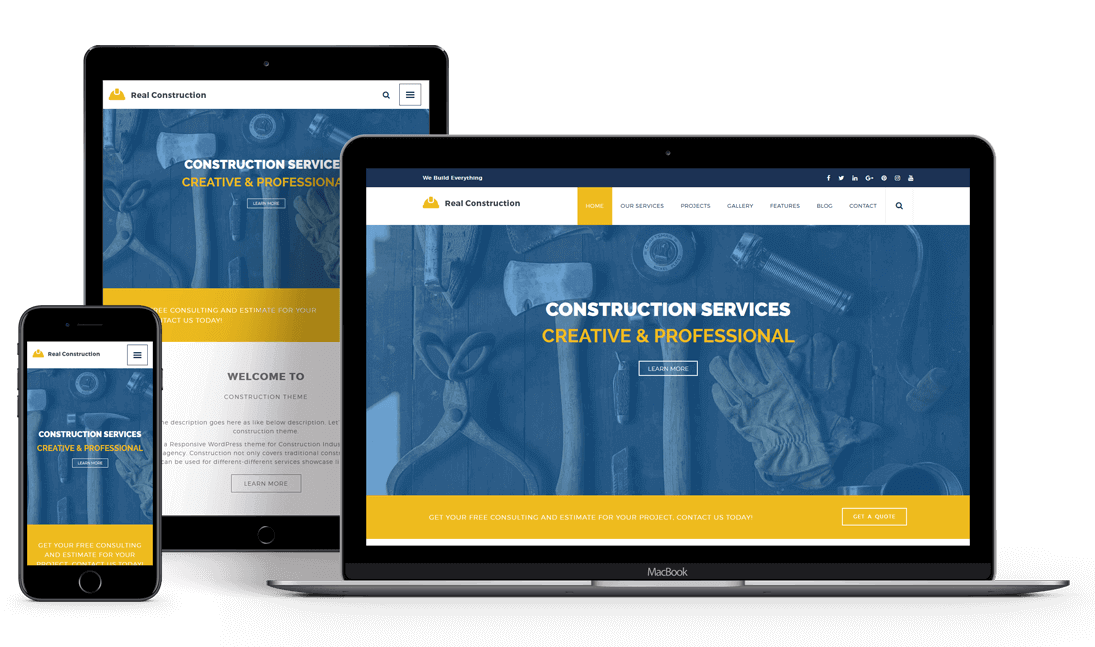 Real Construction - Premium Responsive WordPress Theme