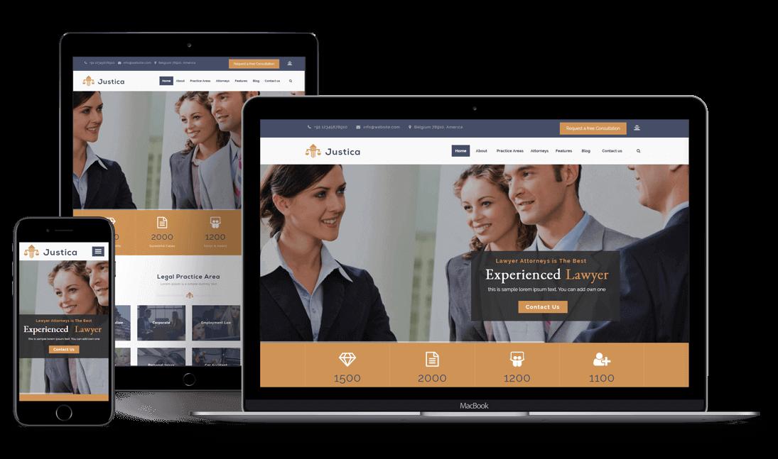 Justica - Premium Responsive WordPress Theme