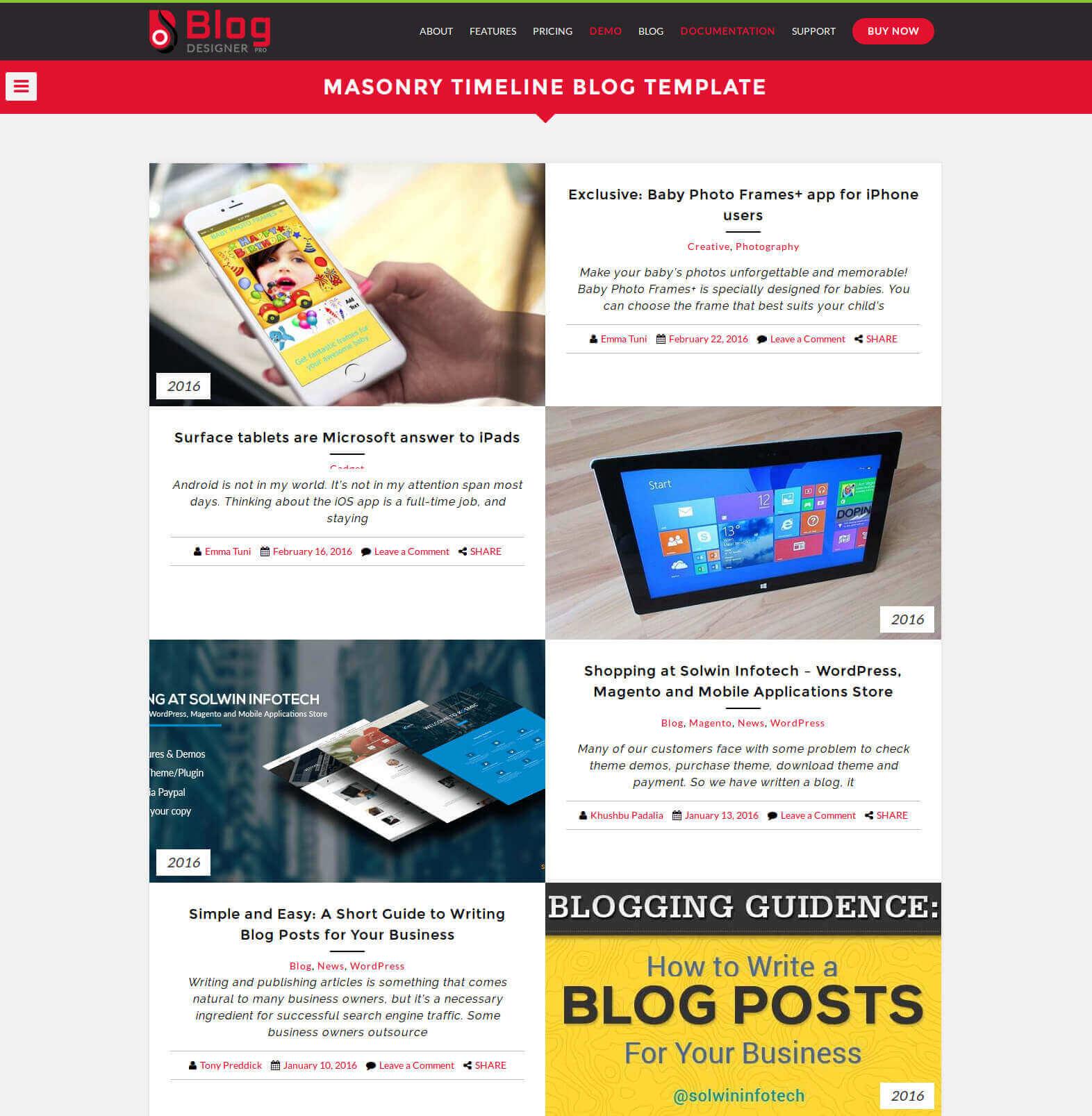 Nicely Designed Blog