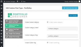 Portfolio Designer – Create Custom Taxonomy
